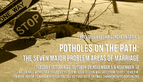 Potholes on the Path: The Seven Major Problem Areas of Marriage Part 1