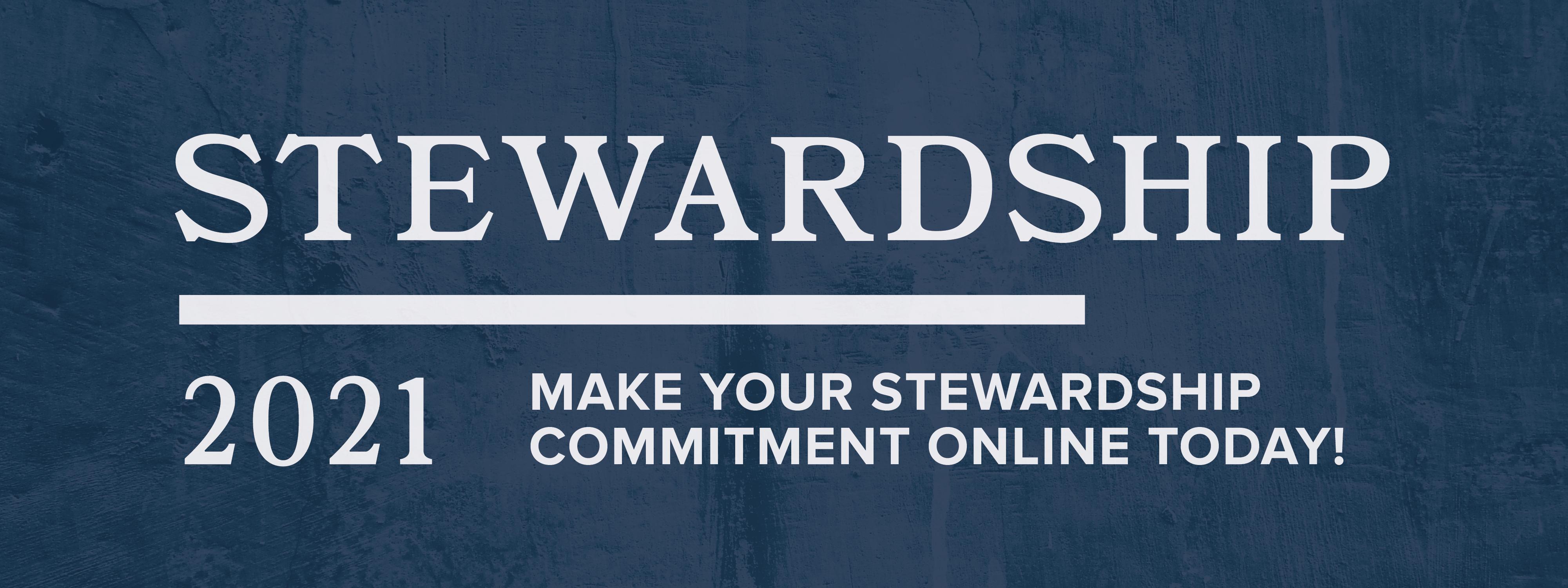 Stewardship Pledge 2021